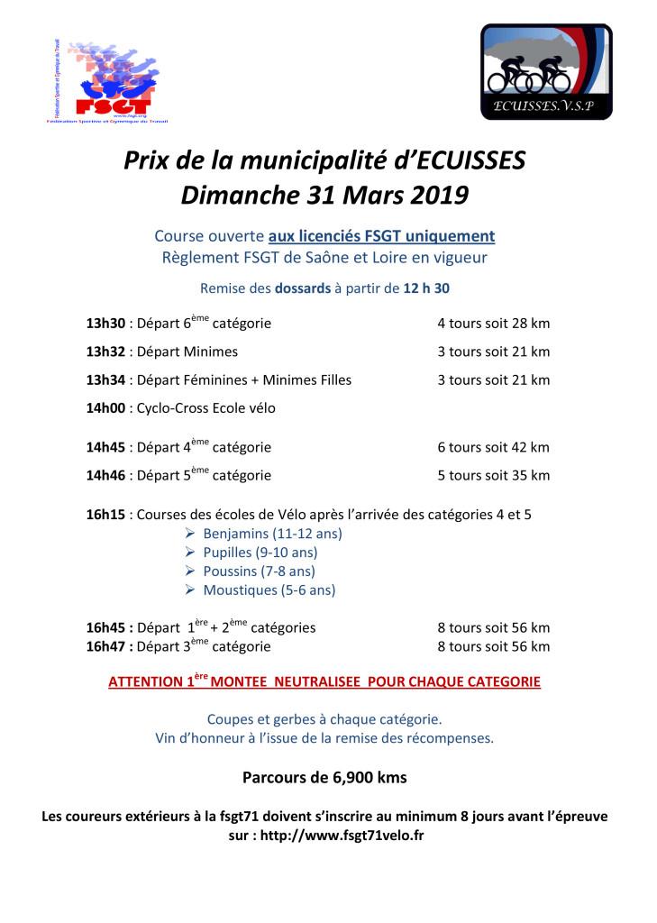 Affiche course Ecuisses 2019