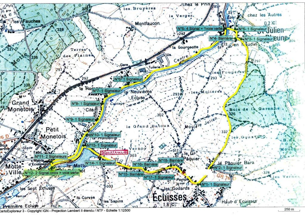 tracé course Ecuisses 2019